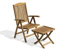 cheltenham teak reclining armchair and footstool