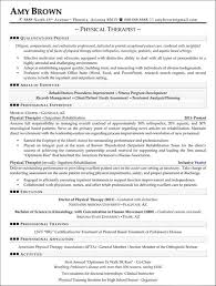 physical therapist resume physical therapy resume exle physical therapist resumes
