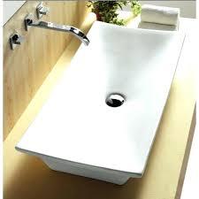 rectangular white vessel sink porcelain rectangular vessel sink