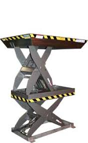 multi stage double high electric hydraulic lift tables