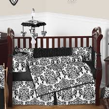 Black And White Crib Bedding Set Black And White Baby Bedding 9 Pc Crib Set Only