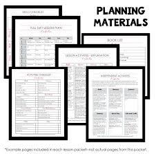 printable home preschool lesson plans blank plan template screen