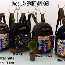 Tas Jansport Replika jual jm068 tas ransel jansport mini motif tribal polos grosir tas