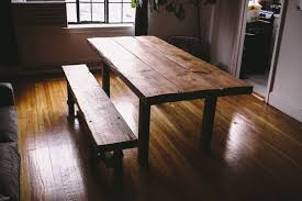 custom made farm tables hand made reclaimed farmhouse table bench by left to right