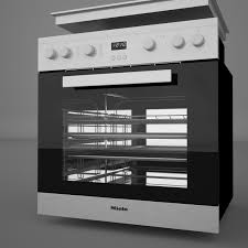 Miele Ovens And Cooktops Miele H2261 Lst Oven Miele Mk 6012 Cooktop 3d Model In Cookware