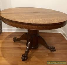 antique round dining table antique victorian large oak round dining table with claw feet for