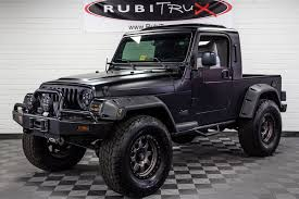 wrangler jeep black pre owned 2004 jeep wrangler rubitrux conversion flat black