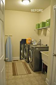 Redo Basement Backyards High Style Low Cost Laundry Room Makeover With Painted