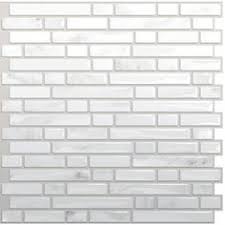 self adhesive kitchen backsplash tiles picture of aspect 3 x6 brushed stainless grain metal