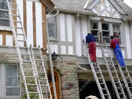 Tudor Style House Chicago Usa September 2010 House Painters Refinishing An