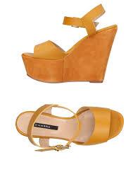 d u0027ambra sandals in orange lyst