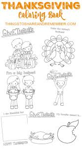 thanksgiving day book printable thanksgiving coloring book