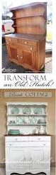 Cottage Kitchen Hutch Best 25 Hutch Makeover Ideas On Pinterest Painted Hutch