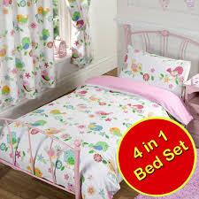 owl bedding for girls tweet tweet birds flowers single double junior duvet covers