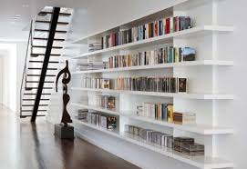 Stairs Book by Decorations Antique Abstract White Wall Book Shelves For Home