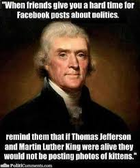 What Is A Meme On Facebook - what thomas jefferson would think of facebook meme