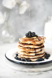 blueberry pancake recipe lemon blueberry quinoa pancakes ambitious kitchen