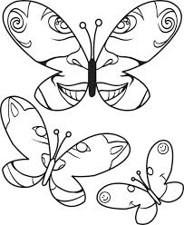 free printable butterfly coloring kids 3