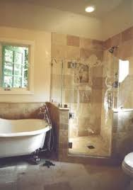 small bath with separate tub and shower google search master
