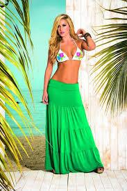 lange rok espiral groene lange rok classywear