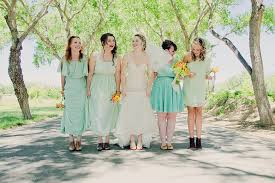 Mint Green Wedding A Mint And Orange Diy Picnic Wedding Glamour U0026 Grace