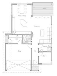 Narrow Modern House Plans House Design Modern House Ch289 10 Planos Casas Pinterest