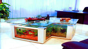 Fish Tank Desk by Fish Aquarium Tables Fish Tank Dining Table Youtube