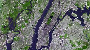 A Map Of New York City by Satellite Map Of New York City New York Map