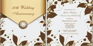50th wedding anniversary party invitation templates