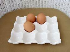 ceramic egg tray 12 egg holder ebay