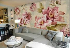 pastoral small fresh peony rose mural background wall mural 3d see larger image