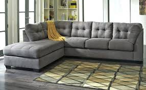 Tufted Sectional Sofa Chaise Mesmerizing Tufted Sectional Blackjack Brown Leather