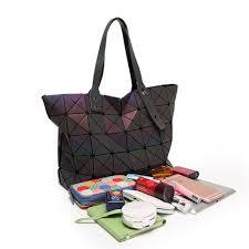 aliexpress com buy leatury 7 8 luminous women bags geometric
