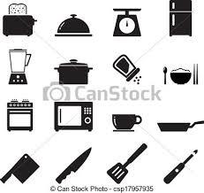kitchen icon kitchen icon set for your design vectors search clip art