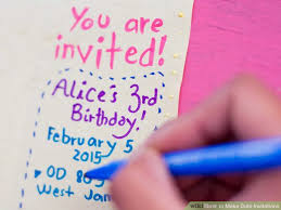 how to make cute invitations 14 steps with pictures wikihow