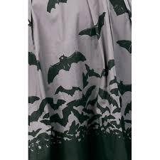 Sourpuss Shower Curtain Spooksville Bats Dress U2013 Gray