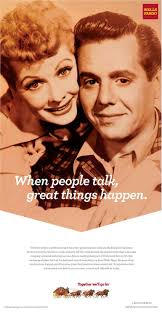lucy and desi arnaz wells fargo print lucy and desi and jane goodall adland