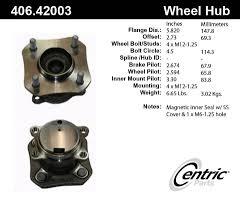 nissan sentra lug pattern 2009 nissan sentra wheel bearing and hub assembly