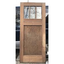 Antique Exterior Door D18008 Antique Oak Exterior Door With Glass 29 3 4 X 83 3 4