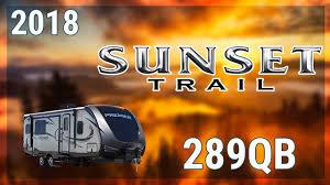 Sunset Trail Rv Floor Plans 2018 Crossroads Sunset Trail Super Lite 289qb Travel Trailer Rv