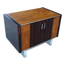 ae design modern age exotic wood u0026 lucite nightstand or sidetable