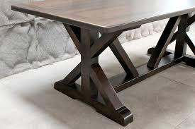 restoration hardware inspired x base trestle table ecustomfinishes