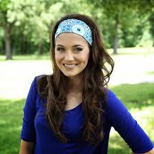 wide headbands women s wide headband in blue charming delightfully colorful
