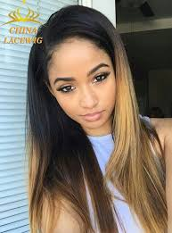 hair highlighted in front chinalacewig kinky straight lace front wigs african american human