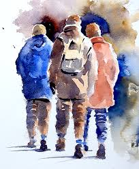 how to paint figures in watercolour by joanne thomas at arttutor