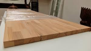 solid beech butchers block utility worktop furniture board 2m