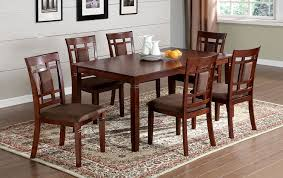 Cherry Dining Room Furniture Of America Cartiere 7 Dining Table Plus