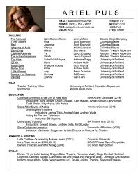 Acting Resumes With No Experience Cover Letter Basics Resume Objective Customer Service