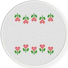 flower border cross stitch pattern daily cross stitch