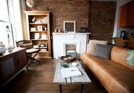 Industrial Look Living Room by My Houzz Warm Industrial Style In A Brooklyn Apartment